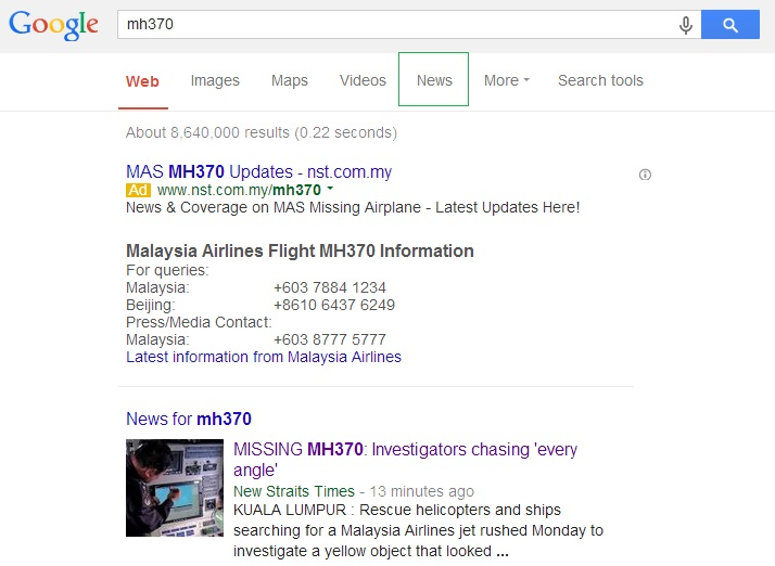 news for mh370